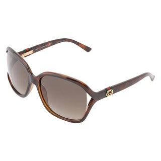 Gucci Square Women's Brown Frame Brown Lens Sunglasses