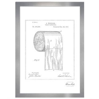 Oliver Gal 'Toilet-paper roll 1891, Silver Metallic' Framed Art