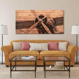 """""""Plane Propeller"""" Arte de Legno Digital Print on Solid Wood Wall Art"""