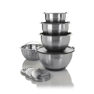 Wolfgang Puck Bistro Elite Stainless Steel 12-piece Mixing Bowl and Prep Set