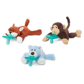 WubbaNub Forest Friends Infant Pacifier (3 Pack)