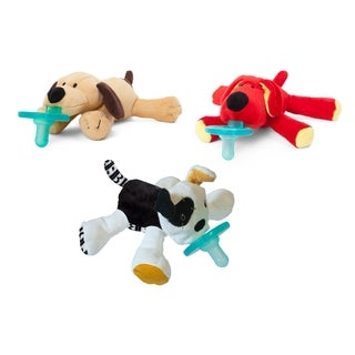 WubbaNub Puppy Love Infant Pacifier (3 Pack)