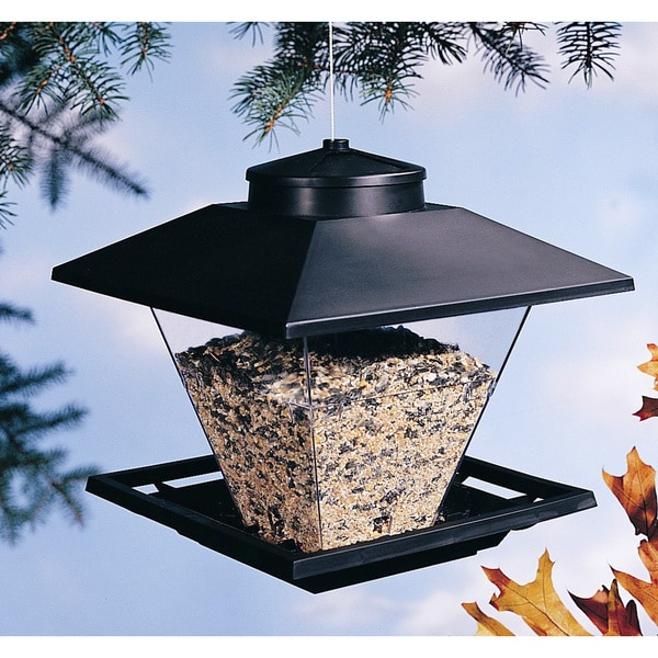 North States 7.5 Lb Black Pop Up Coach Lamp Hanging Bird Feeder