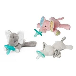 WubbaNub Just Elephants! Infant Pacifier (3 Pack)