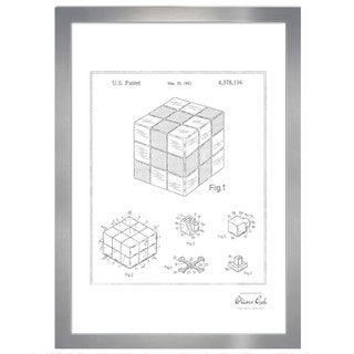 Oliver Gal 'Spatial Logical Toy, 1983, Silver Metallic' Framed Art