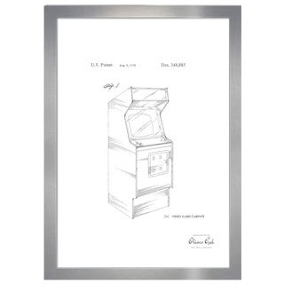 Oliver Gal ' Game Cabinet 1978, Silver Metallic' Framed Art