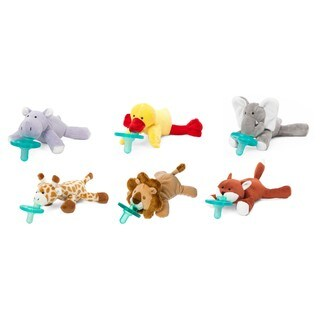 WubbaNub Grassland Friends Infant Pacifier (6 Pack)