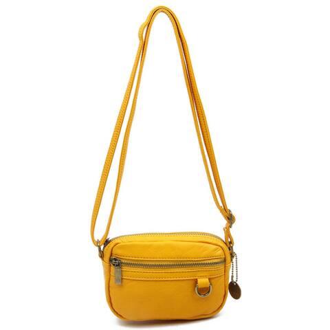 Ampere Creations Caroline Faux Leather Mini Crossbody Handbag