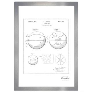Oliver Gal 'Basket Ball 1929, Silver Metallic' Framed Art