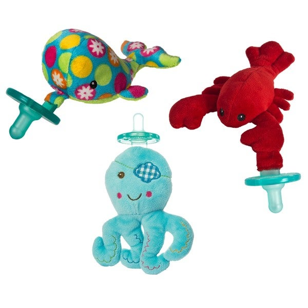 WubbaNub Mary Meyer Limited Edition Under The Sea Infant Pacifier (3 Pack) - Free Shipping On Orders Over $45 - Overstock.com - 21488964