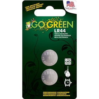 GoGreen Power 1.5V Y5 Button Cell LR44 Batteries (Pack of 2)