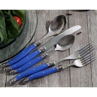 20 Piece Laguiole French Blue Flatware Set by French Home