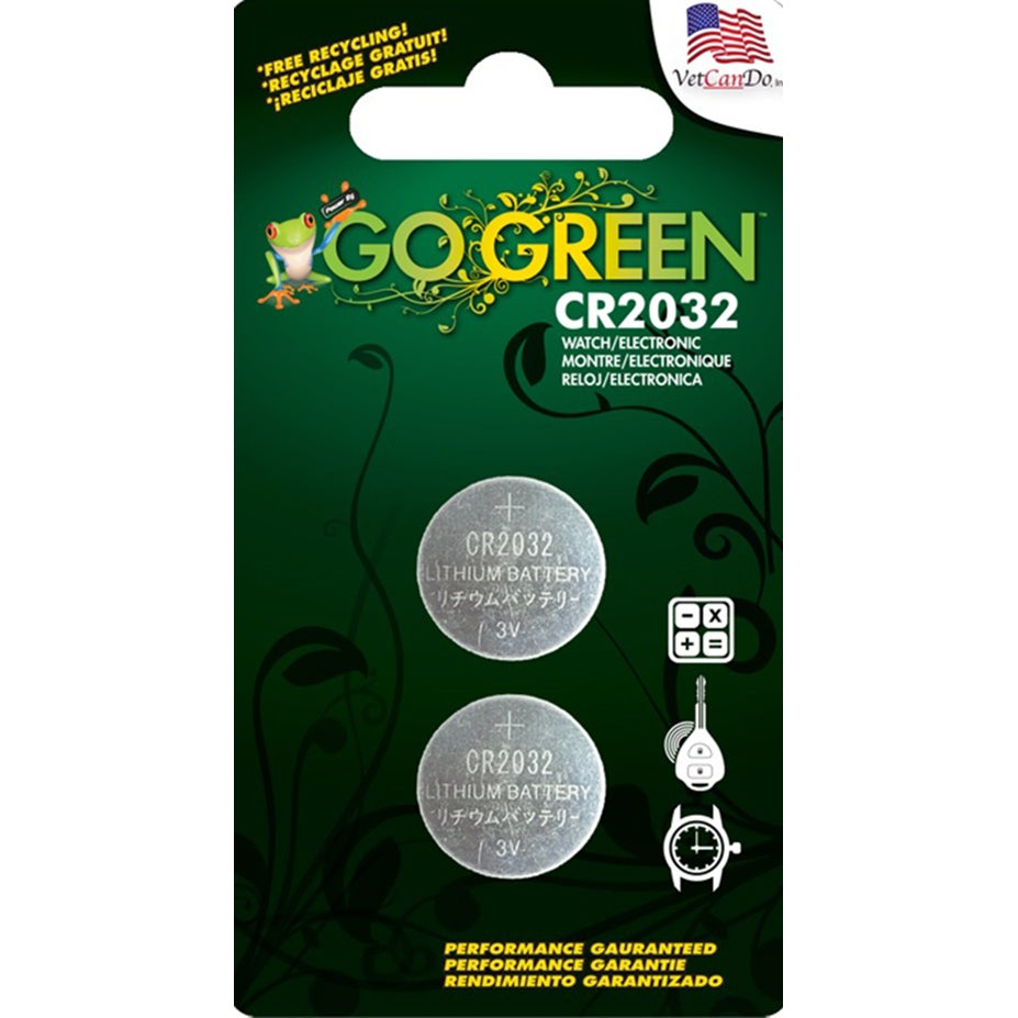 GoGreen 3V Lithium Button Cell CR2032 Batteries (Pack of ...