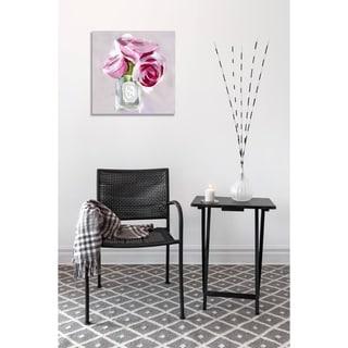 Oliver Gal 'Rose Candle' Canvas Art - Rose