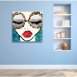 Oliver Gal 'Ready for the Sea' Fashion and Glam Wall Art Canvas Print - Blue, Red