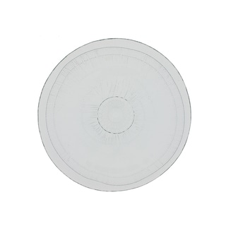French Home Set of 4, 8-inch Ice Clear Birch Salad Plates