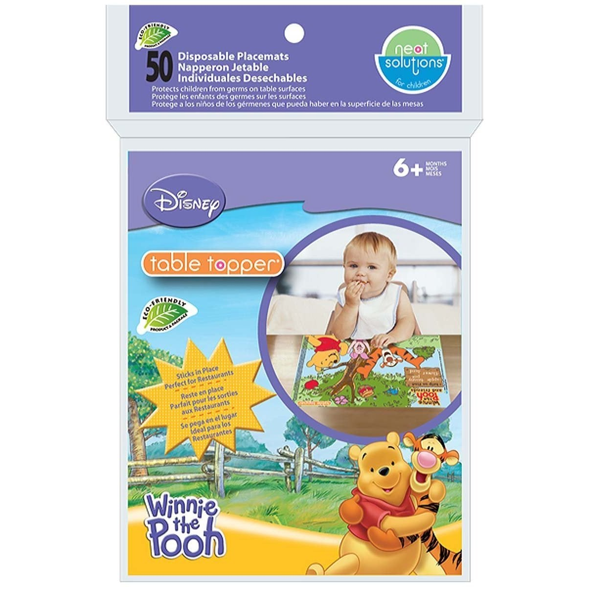 Neat Solutions Winnie The Pooh Table Toppers Disposable P...