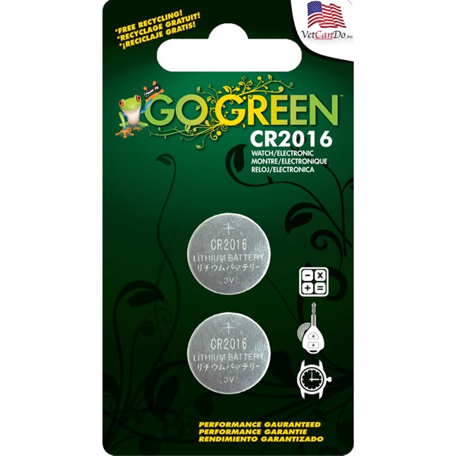 GoGreen 3V Lithium Button Cell CR2016 Batteries (Pack of ...