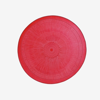 French Home Set of 4, 8-inch Cranberry Red Birch Salad Plates