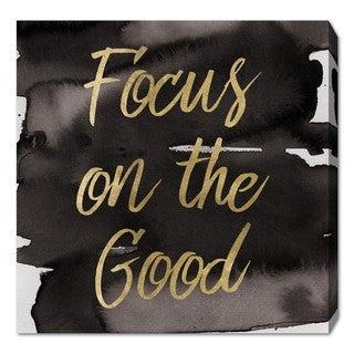 Oliver Gal 'Focus On The Good' Canvas Art - Gold/Black
