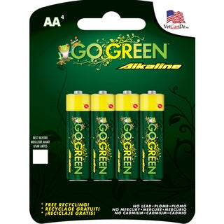 GoGreen Power Alkaline AA 24001 Battery (4 Pack)