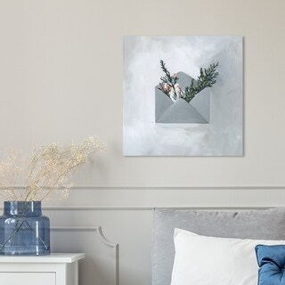 Oliver Gal 'Sending My Love' Canvas Art - Grey