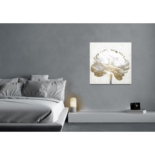 Oliver Gal 'Gold and Light Floral II White' Canvas Art - Gold/White