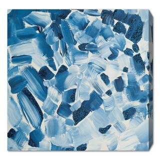 Oliver Gal 'Blue Christmas' Canvas Art - Blue