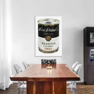 Oliver Gal 'Fashion Soup' Fashion and Glam Wall Art Canvas Print - Black, White