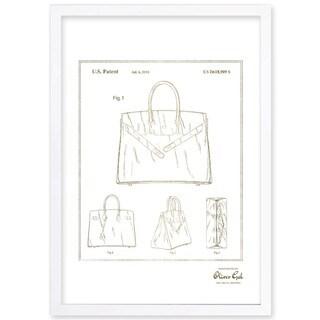 OliverGal'Birkin handbag 2009, Gold Metallic' Framed Art