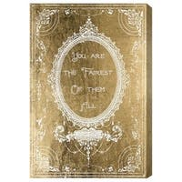 Oliver Gal 'The Fairest Gold' Canvas Art - gold, white