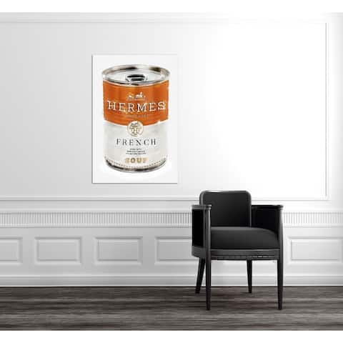Oliver Gal 'French Luxe Soup' Fashion and Glam Wall Art Canvas Print - Orange, White