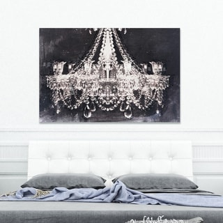 Oliver Gal 'Dramatic Entrance Night' Canvas Art - Black/White