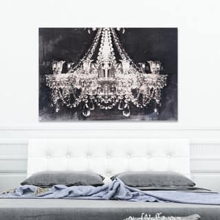 Silver Orchid 'Dramatic Entrance Night' Gallery Wrapped Canvas Art