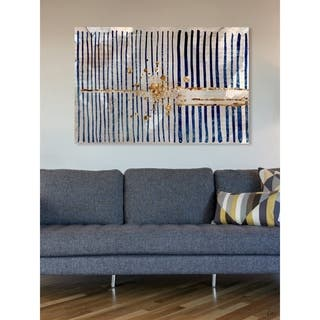 Oliver Gal 'Love Force Field' Abstract Wall Art Canvas Print - Blue, Gold