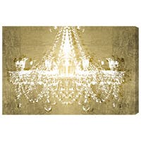 Oliver Gal 'Dramatic Entrance GOLD' Fashion Chandeliers Gallery Wrapped Canvas Art