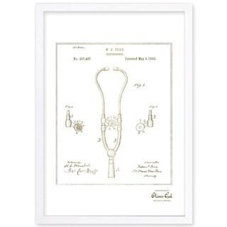 OliverGal'Stethoscope 1882, Gold Metallic' Framed Art