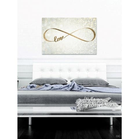Oliver Gal 'Sparkle Love' Typography and Quotes Wall Art Canvas Print - Gold, Yellow