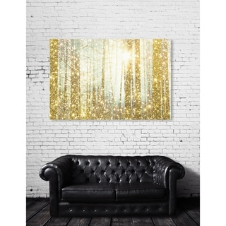 Oliver Gal 'Magical Forest' Nature and Landscape Wall Art Canvas Print - Gold, Yellow