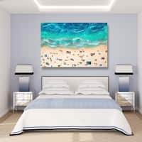 Oliver Gal 'A Day At the Beach' Canvas Art - teal, turquoise