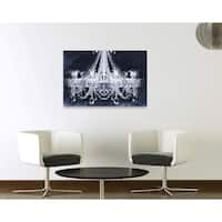 Oliver Gal 'Dramatic Entrance Indigo' Fashion and Glam Chandeliers Gallery Wrapped Canvas Art - Black, White
