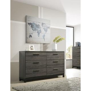 Ioana 187 Antique Grey Finish Wood 6 Drawers Dresser