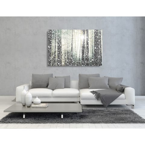 Oliver Gal 'Magical Forest SILVER' Nature and Landscape Wall Art Canvas Print - Gray