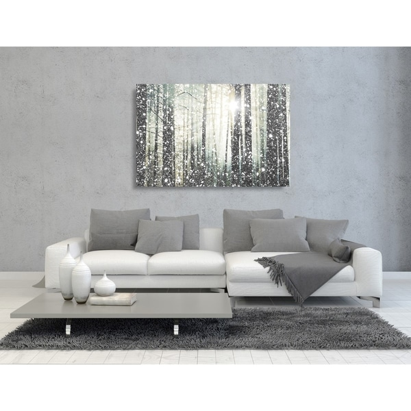 Shop Oliver Gal Magical Forest Silver Nature And Landscape Wall