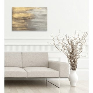 Oliver Gal 'Into The Night' Canvas Art - gold, gray