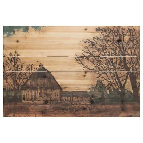 """Erstwhile Barn"" Arte de Legno Digital Print on Solid Wood Wall Art"