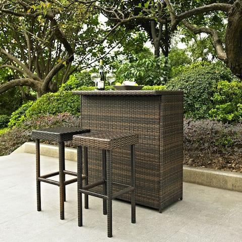 Palm Harbor 3 Piece Outdoor Wicker Bar Set
