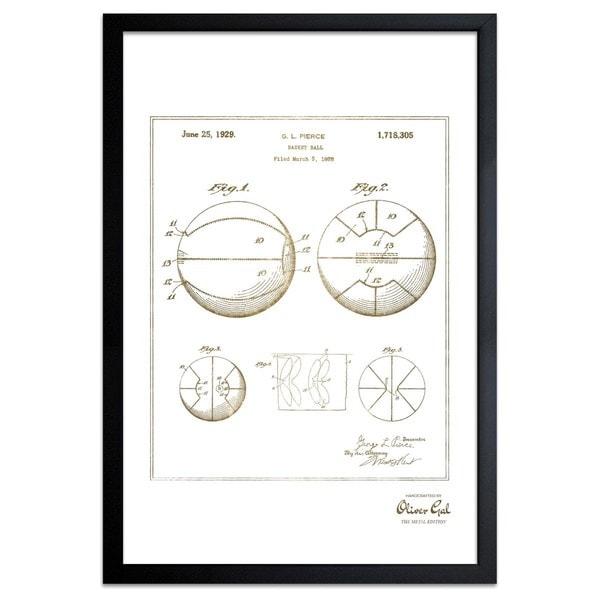 OliverGal'Basket Ball 1929, Gold Metallic' Framed Art