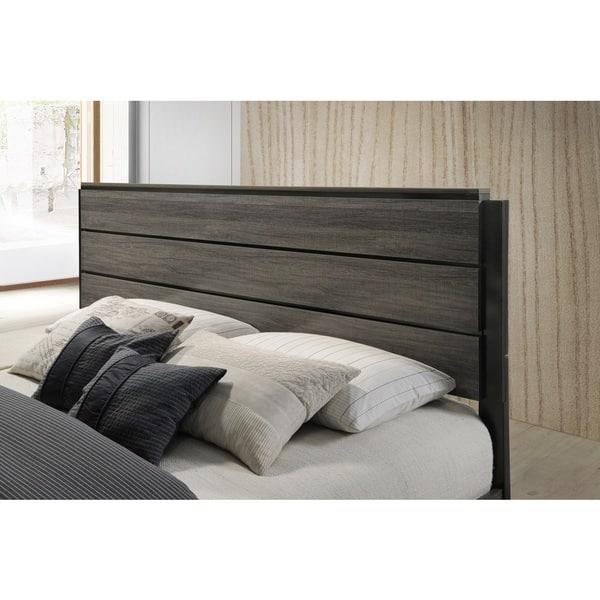 Shop Ioana 187 Antique Grey Finish Wood Bed Room Set King