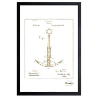 OliverGal'Anchor 1887, Gold Metallic' Framed Art